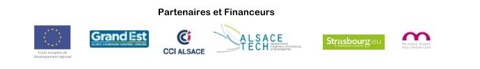 Pavé des logos partenaires et financeurs des conférences Alsace tech 4.0 - copyright CCI ALSACE EUROMETROPOLE