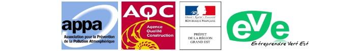 Logos partenaires Qualite air intérieur