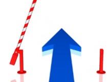 Barrière douanière Flèche bleue