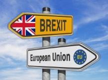 Panneaux signalisation Drapeau RU Brexit Drapeau EU European Union