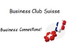 Logo Business Club Suisse -  drapeaux suisse-français