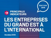 Couverture flyer : Principaux indicateurs - les entreprises du Grand Est à l'international