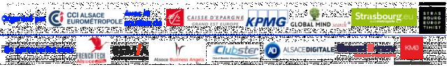 Logos des partenaires de l'évènement - Copyright CCI ALSACE EUROMETROPOLE