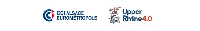 Logos CCI ALSACE EUROMETROPOLE ET UPPER RHINE 4.0 - copyright CCI ALSACE EUROMETROPOLE