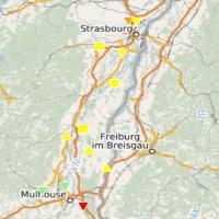 Carte Haut Rhin et Bas Rhin - copyright CCIAE