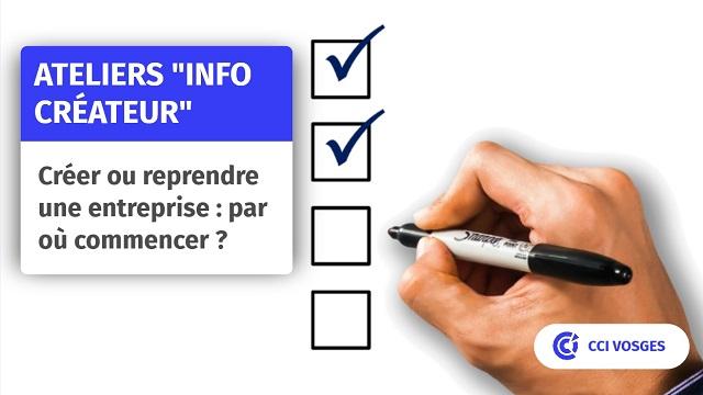 """Ateliers """"Info Créateur"""""""